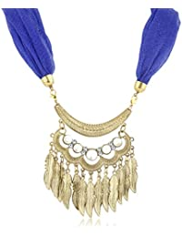 Sukkhi Designer Gold Plated Scarf Necklace With Chain For Women