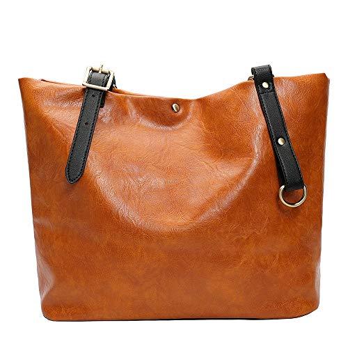 serliy Mode Retro weiche Leder Umhängetasche Tote Bag Damen Tasche Handtasche Rucksack