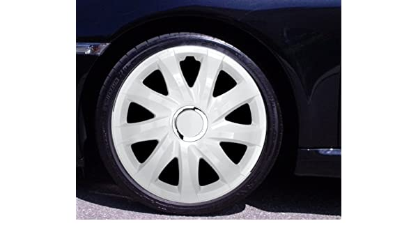 15 Inch Hubcaps/Wheel Trims Drift White Fiat, Fiorino, MAREA, MULTIPLA QUBO SCUDO SEDICI STILO ULYSSE UNO: Amazon.co.uk: Car & Motorbike