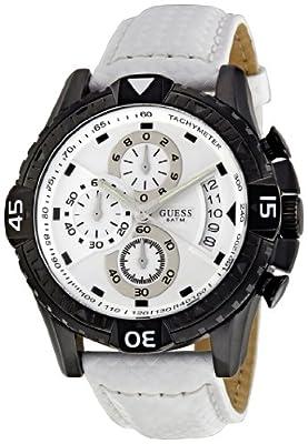 Reloj Guess W18547G2 de cuarzo para hombre con correa de piel, color blanco de WTGS5 #Guess