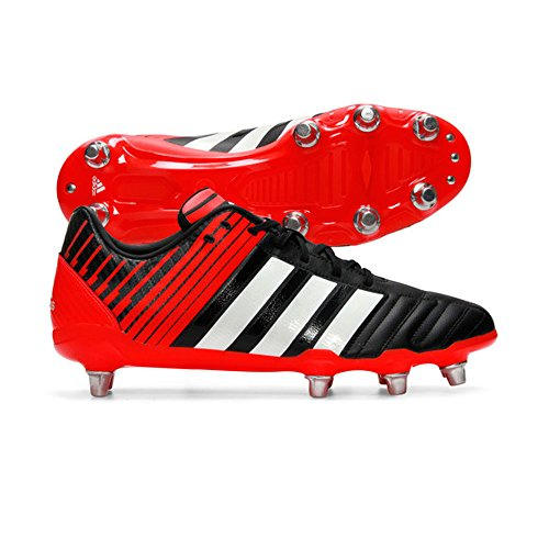 Adidas Regulate Kakari SG Wide Fit Scarpe da Rugby, colore: nero/bianco/rosso, Black, UK 15