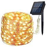 Hiluckey Catene Luminose Stringa Luci 200 LEDs Impermeabile Filo di Rame 8 Modalità 20 metri per Decorazione della Casa, Festive e Natale