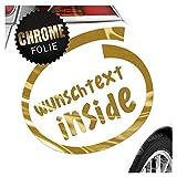 Kiwistar Wunschtext Inside Aufkleber Sticker 25 Farben Neon Matt