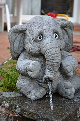 SSITG großer Elefant \'Benjamin\' - Wasserspeier - Skulptur - Steinfigur - Gartendeko
