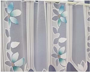 rideau brise bise 45 cm vert menthe gardinen fleur avec ruban terres st riles. Black Bedroom Furniture Sets. Home Design Ideas