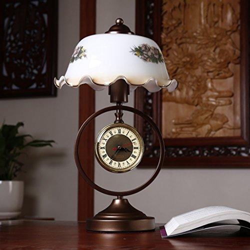 Lamp LU de Table American Country Chambre de Chevet Creative rétro Bois Bureau lumière