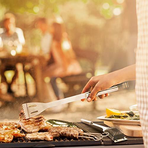 51qeVcOBSLL - WisFox Grillbesteck, Edelstahl Grill Zubehör 28 Teiliges Barbecue Grill Zubehör Set BBQ Utensilien in Aluminium Aufbewahrungskoffer