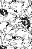 Agenda 2020: Agenda de Janvier à Décembre 2020, Semainier simple & graphique, série Black & White, Motif fleuri blanc