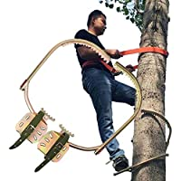 GNZY Arbol De Escalada Artefacto Pole Climbing Spikes Electricista Utilidad Polo Hebilla Poste De Madera para Trepar Árboles para La Observación De La Caza,400Model
