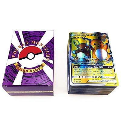 Martialart Cartas de Pokemon Cartas Coleccionables de Holo Cartas de Estilo TCG EX Arte Completo Incluyendo Equipos de Etiqueta 80 Mega 20 GX 20 por Martialart
