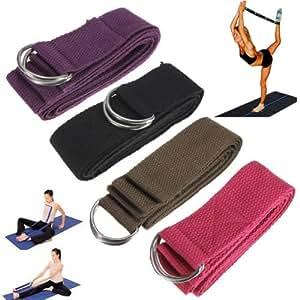 Yoga étirement ceinture Lot de sangle ANNEAU D'exercice pour Pilates Gym Fitness ceinture