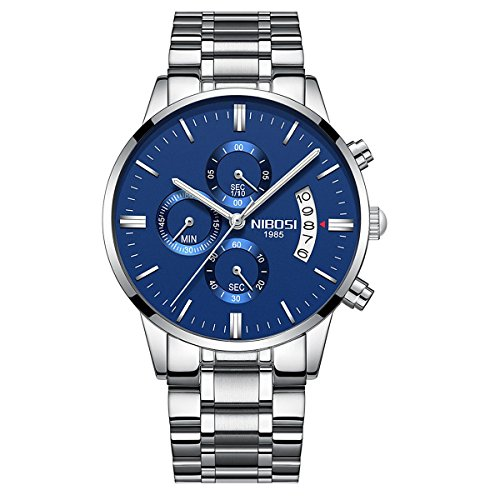 Mens Watches Waterpoof Wrist Watch Sports Stopwatch Multifunction Watch Fashion Analogue Quartz Calendar Date Casual Business Dress watches