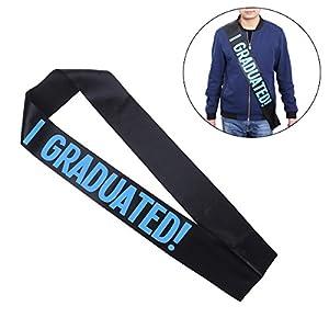 BESTOYARD Abschlussfeier Sash College High School Graduate Zubehör liefert (blaues Muster)