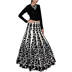 HMP Fashion women's printed black party wear lehanga choli/ sale