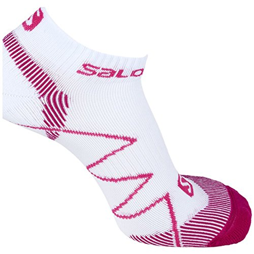 Salomon X Scream, Calzini da corsa unisex, Rosa (white/pink/mystic purple), 39-41 / M