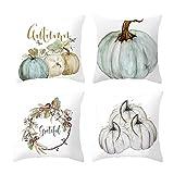 Gaddrt 4Pcs Pillow Case Halloween Home Car Bed Sofa Decorative Letter Cushion Cover