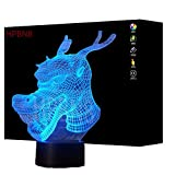 3D Drache Lampe USB Power 7 Farben Amazing Optical Illusion 3D LED Lampe Formen Kinder Schlafzimmer Nacht Licht