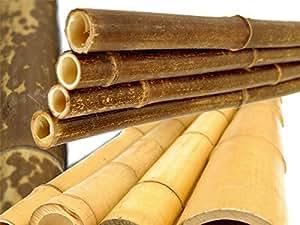 Moso bambù tubo colore naturale - alta qualità Bambù prodotto - 1-2cm x 200cm - Set da 5