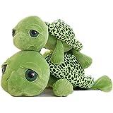Good Night Ojos grandes Tortuga verde juguete peluche de animales de peluche, Kids Birthday Gift