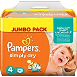 PAMPERS Simply Dry Taille 4 (Maxi) 7 a 18 kg couch