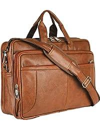 Thames Faux Leather 15.6 Laptop Messenger Bag/Sling Bag/Laptop Briefcase