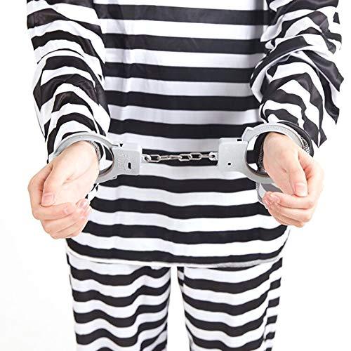 hou zhi liang Kunststoff-Handschellen Gefangene Handschellen Neuheit Halloween Kostüme Cops und Räuber Party Supplies 1 (Halloween Räuber Kostüm)