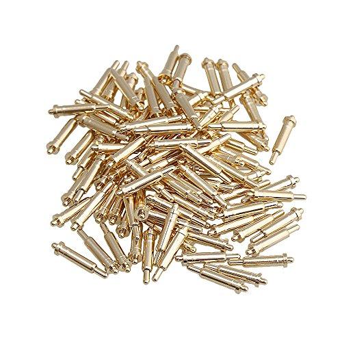 Yibuy Vergoldet Kupfer Frühling Test Probe Pogo Pin, Total Length:9MM/0.35 inch