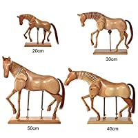Artina Art Mannequin Monet 20 cm (7.9 Inch) Wooden Horse Body Drawing Articulated Artist Manikin Figure Solid Wood
