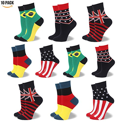 Socken aus Baumwolle Thermal Socken Erwachsene Unisex Socken Frauen Socken Dame Socken Mädchen Socken Lässige Socken (KQWSK08 - 10 Paare Mehrfarbig, EU 35.5-40/UK 3-7) (Socken Maroon Damen)