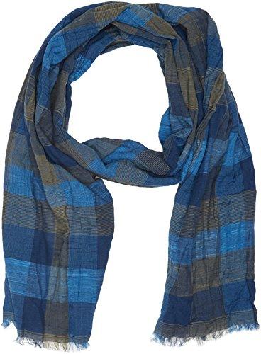 camel active Herren Schal 407110 7V11, Blau (Dark Blue/Green 49), One Size