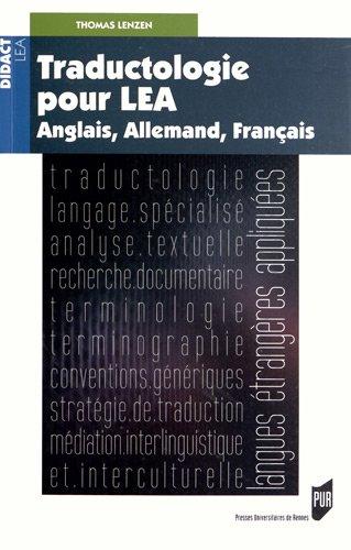 TraductologiepourLEA : Anglais,Allemand,Français
