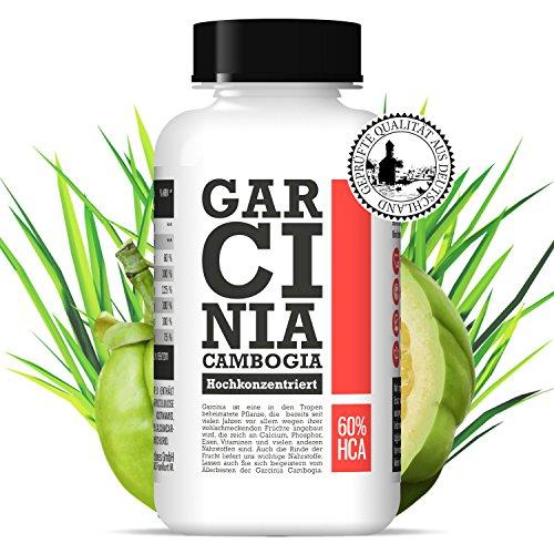 Garcinia Cambogia GC Extrakt VEGAN 60% HCA Fatburner | 90 Kapseln | 1 Monat, 30 Cent pro Tag
