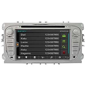 Witson Car, DVD GPS Navigation GPS autoradio Navi headunit pour Ford Mondeo modèles 2007-2013 2008-2011 2009-2011 Focus S-max et Galaxy 2011 2012 SD/USB/iPod/iPhone/3 g/vidéo/Appareil photo caméra de rechange pour kit mains libres Bluetooth avec commande au volant