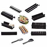 Descrizione: DIY 10 in 1 sushi maker 10pcs riso rotolo stampo cucina chef set stampo rullo Cutter sushi making Tools -[Economico &Amp; portatile]: Dont bisogno di spendere molto denaro per il sushi difficile fare kit, e si può prendere insieme a...