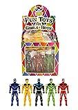 Geo-Versand® 4/6/8/10 bis 100 Stück Mädchen Jungen Spielzeug Adventskalender Mitgebsel Mitbringsel Dinosaurier Krone Perlen basteln Gastgeschenke (8 x Super Fighter)