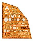 Rumold 2915 Elektrowinkel zum Zeichnen und Messen orage/klar