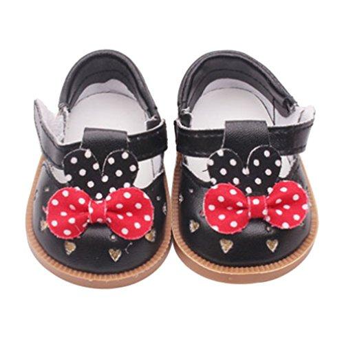 Homyl Scarpe Sandali Stivali Alto Moda Calzini Footwears Accessori con Vestiti Abbigliamenti per Bambola - Nero