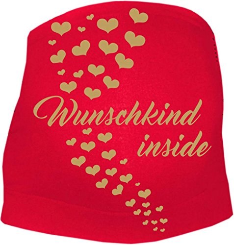 KLEINER FRATZ - Ceinture de grossesse spécial grossesse - Slogan - Femme - rouge - 50