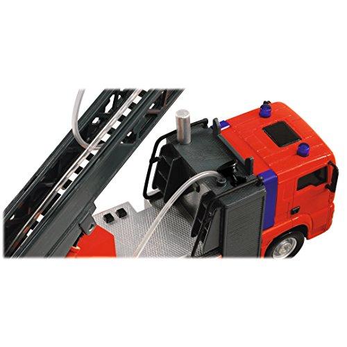 Dickie Toys 203715001 – City Fire Engine, Feuerwehrauto mit manueller Wasserspritze, 31 cm - 8