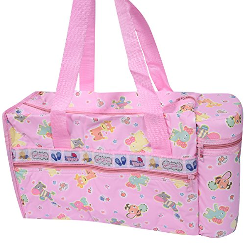 Guru kripa Baby Products™Presents New Born Baby Multipurpose Mother Bag Cum Portable Thermal Warmer Cyan With Holder Dipper Changing Multi Compartment For Baby Care And Maternity Handbag Messenger Bag Diaper Nappy Mama Shoulder Bag Diaper With Warmer Bag With 2 Bottle Holders Keep Baby Bottles Warm With 2 For Baby Multipurpose Waterproof Mother Bag Diaper Bag (Pink)  available at amazon for Rs.645