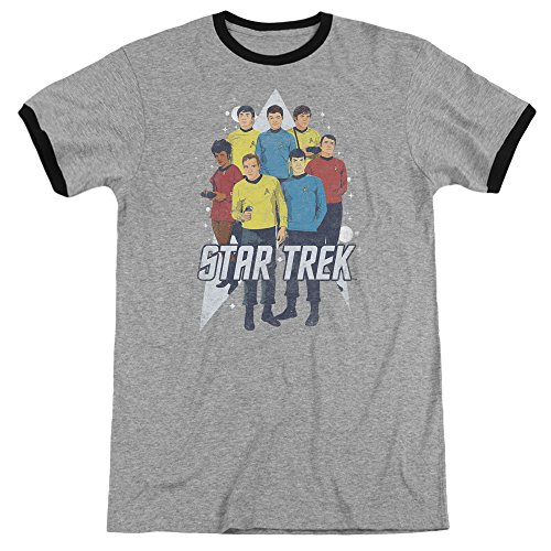 Star Trek Herren T-Shirt Heather/Black