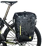 Huntvp Fahrradtasche Hochwertig Gepäckträgertasche Fahrrad Hintsitz Trunkbag Multi Satteltasche Wasserdicht Reparatur Set mit Schultergurt und Reflektierendes Schild