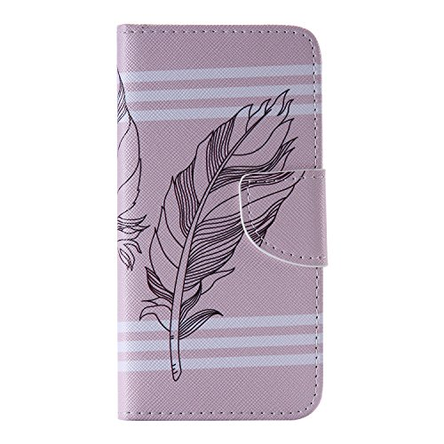 Meet de téléphones portables Housse Case | sac | Case pour iphone 5 5G 5S / iphone SE, Folio Leather | Case Cover | en cuir pour Apple iphone 5 5G 5S / iphone SE étui en cuir PU Handy Wallet | Tongues Ressort peint à la main