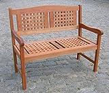 MERXX Gartenbank Lima aus Eukalyptusholz, 2-Sitzer