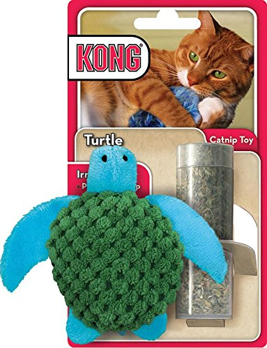 kong-rechargeables-tortue-marine-jouets-a-herbe-a-chat