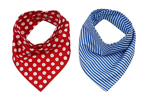 Wobbly Walk Bandana Bibs Adjustable For Growing Baby Pack Of 2 Pcs