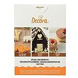 Decora Confezione Fogli Decorativi Muro/Legno/Pietra/Pelle, Plastica, Trasparente, 4 Pezzi