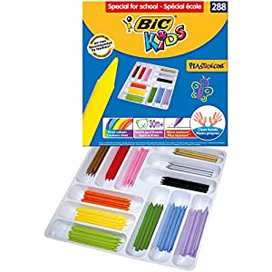 BIC Kids Plastidecor Pack de 288 Craies de coloriage