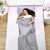 Ligero Portable Saco Bolsa Dormir Liner, Luxebell 210 * 70cm de Algodón de Gran Tamaño Suave Saco de Dormir Liners para Acampar, Senderismo con Lujoso Espacio