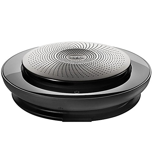 Jabra Speak 710 UC Premium-Freisprechlösung mit USB/Bluetooth, spontane Telefonkonferenzen und Musik hören, für Unified Communications optimiert, schwarz/silber, inkl. Link 370 (Konferenztelefon Für Handy)